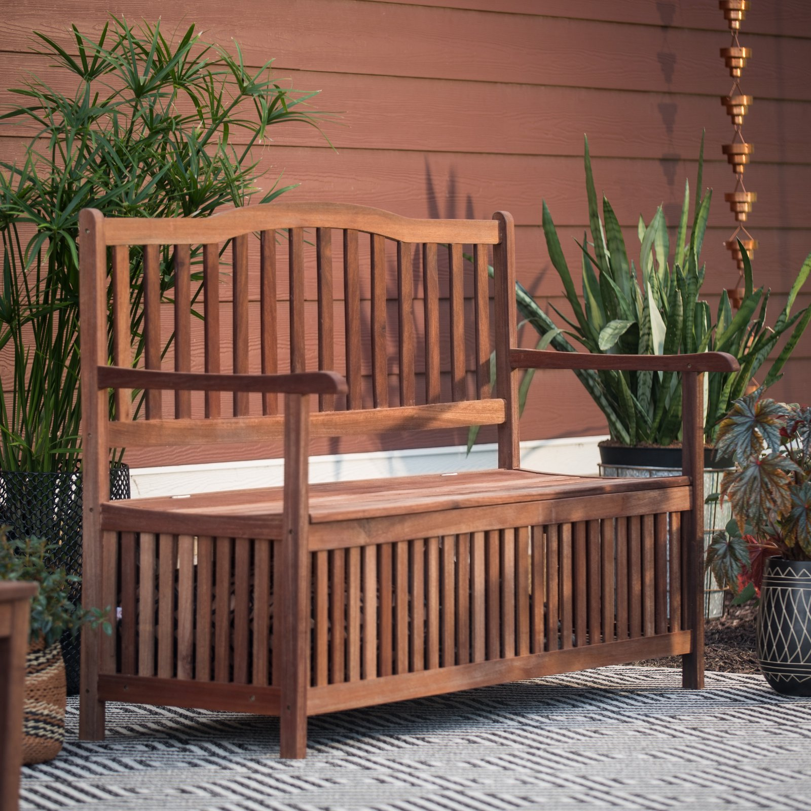 Belham Living Pearson Curved Back Storage Bench