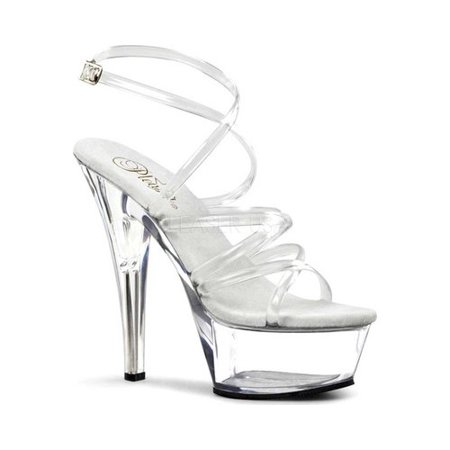 Women's Pleaser Kiss 206 (Clear Pleaser Shoes)