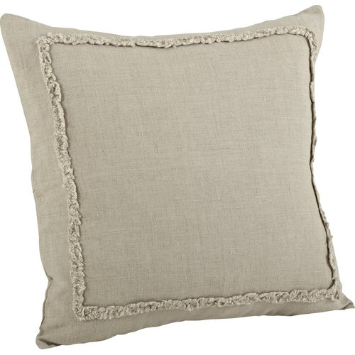 Saro Mathilde Ruffled Cotton Throw Pillow