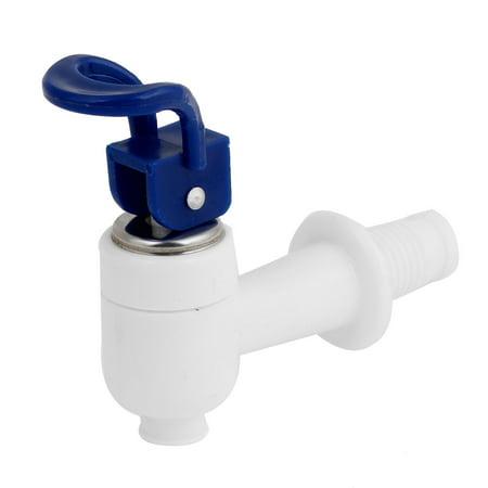 Unique Bargains 15mm Thread Dia Plastic Water Dispenser Spigot Valve Faucet Navy Blue White
