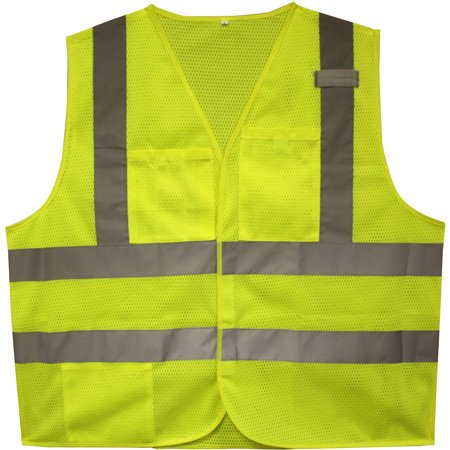 Cordova Flame-Resistant Class II High-Visibility Lime 2-Pocket Safety (Four Paws Safety Seat Vest)