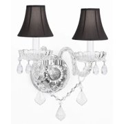 Gallery T40-334 Clear Murano Venetian 2 Light Crystal Double Sconce