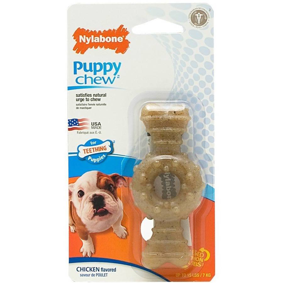 Nylabone Puppy Ring Teething Chicken Flavored Bone, Petite, Small