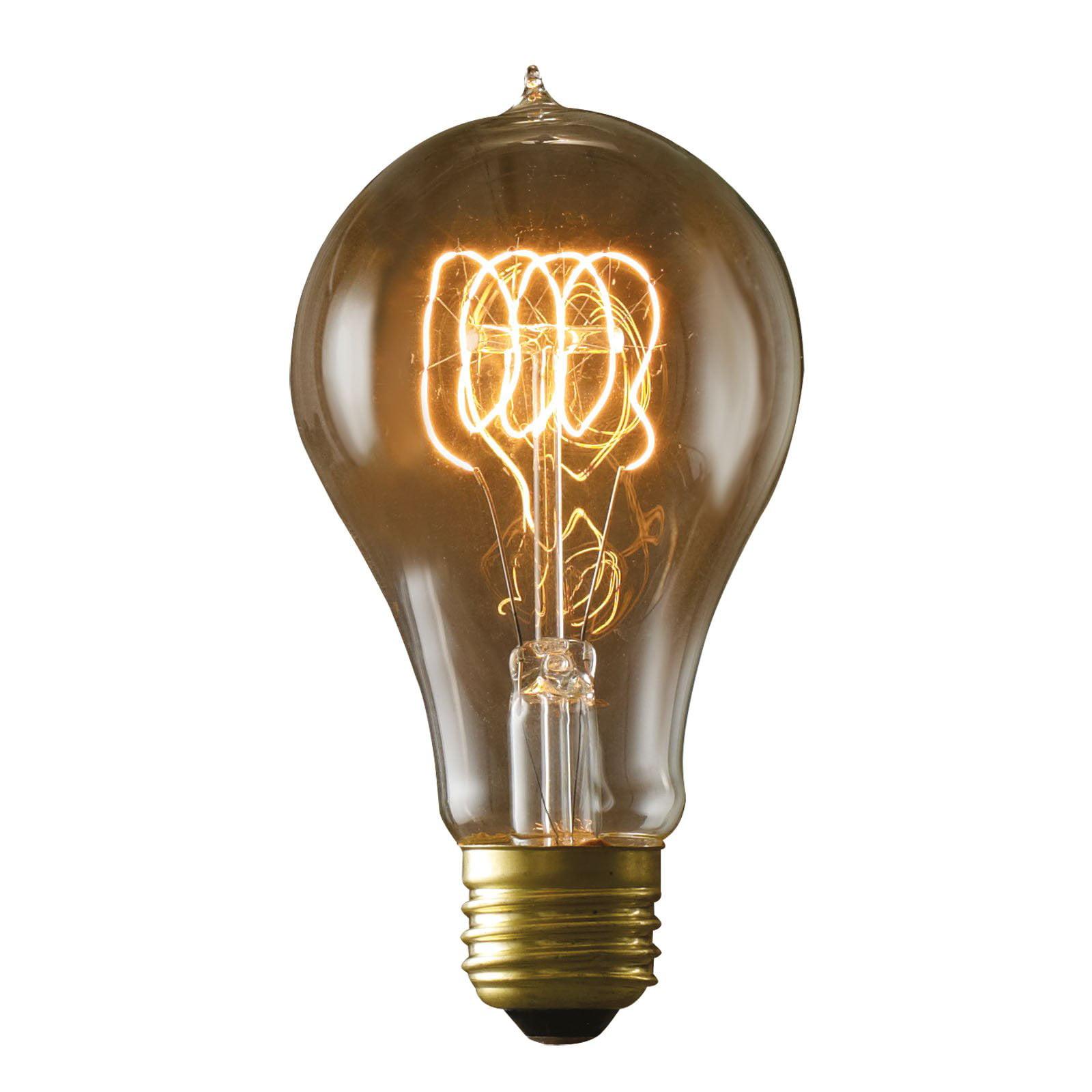 Bulbrite Victorian Loop Filament A21 Incandescent Edison Light Bulb - 4 pk.