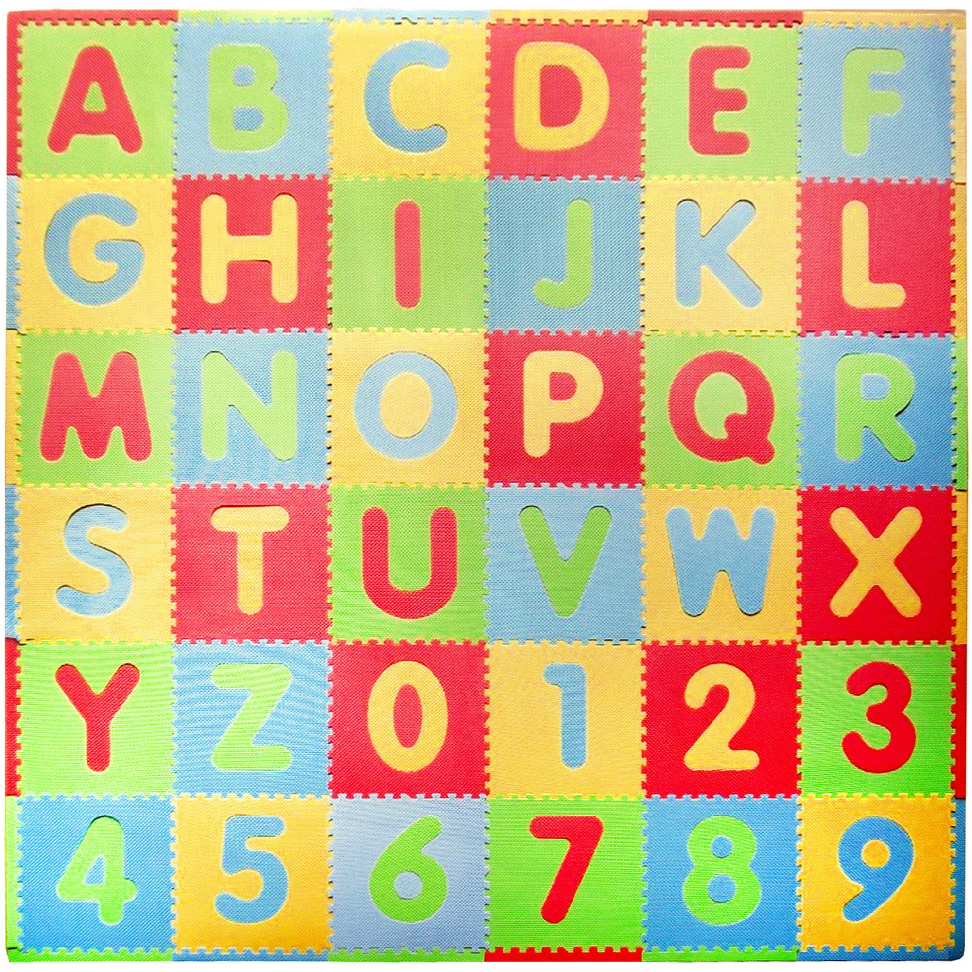 Tadpoles Playmat Set, 36pc, ABC, Multi/Modern