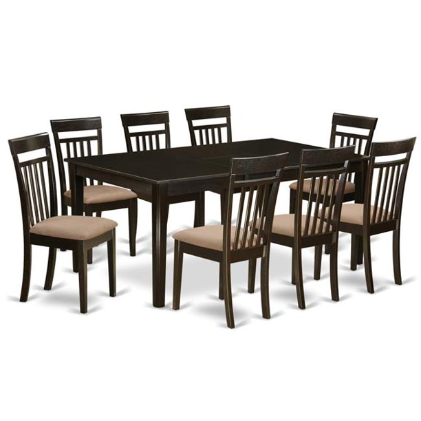 dining room set  table with leaf together with 8 chairs