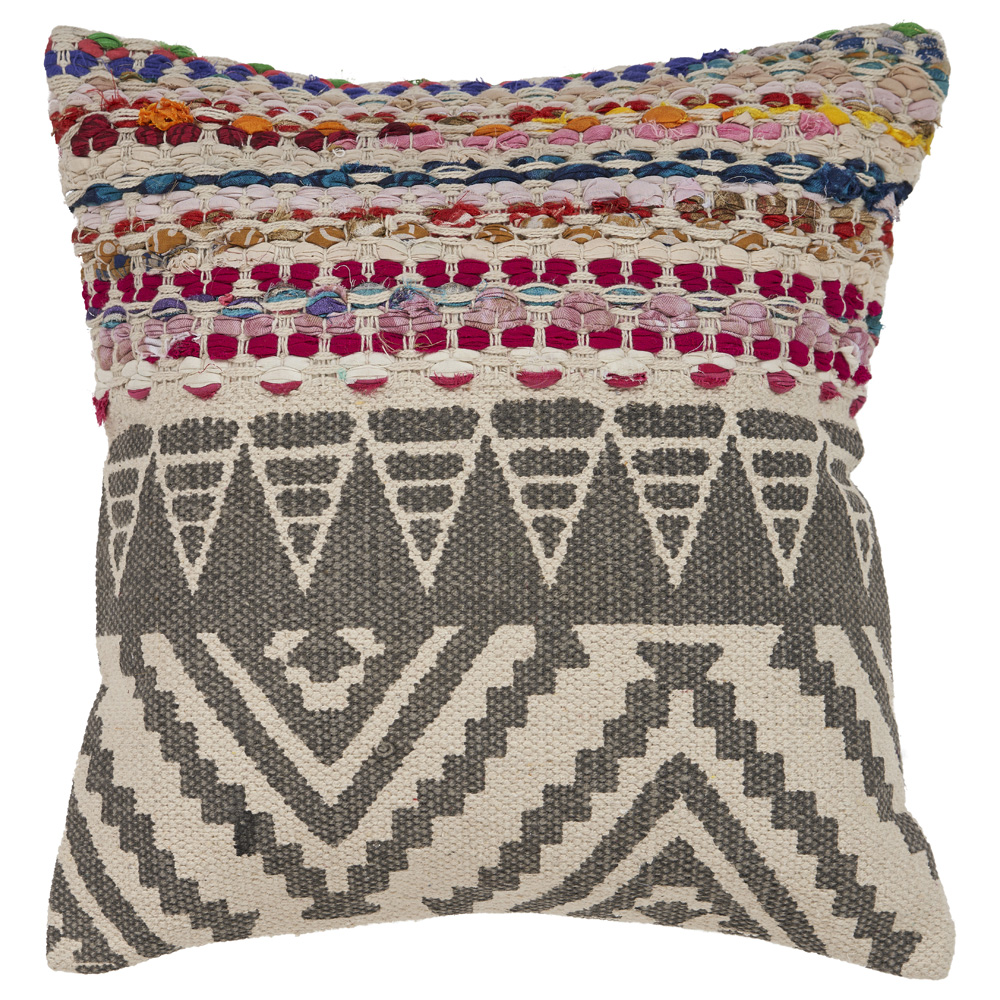 "LR Home Boho Geometric Multi Color Throw Pillow 18"" x 18"""
