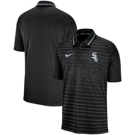 Chicago White Sox Nike Game Stripe Raglan Sleeve Polo - (Best Black And White Nikes)