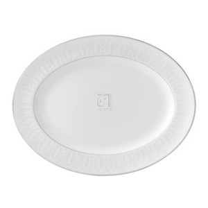 """Waterford Ballet Icing Pearl Oval Platter, 15.25"""""""