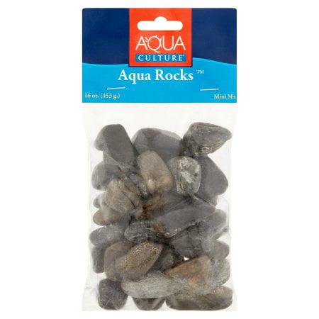 Aqua Sweet 16 Decorations ((2 Pack) Aqua Culture Mini Mix Fish Tank Aqua Rocks, 16)