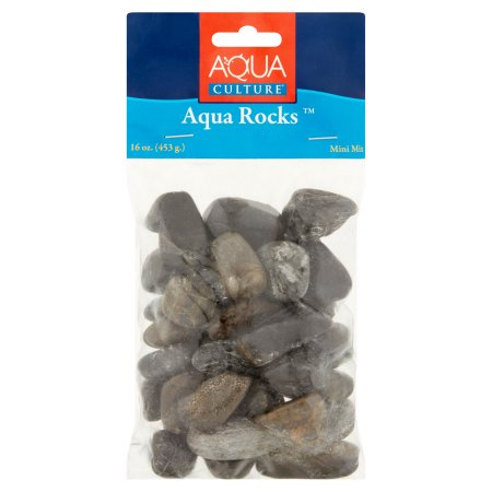 (2 Pack) Aqua Culture Mini Mix Fish Tank Aqua Rocks, 16 oz