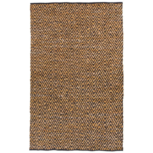Chandra Rugs SOR402-79106 Sora 8' x 11' Rectangle Leather Hand Woven Ikat Area R