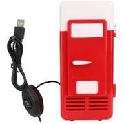 Lonbiaci 1PC USB Portable Drink Cooler Cooling Heating Refrigerator Dual- Use Mini Car Fridge Freezer (3. 23. 47. 6inch)