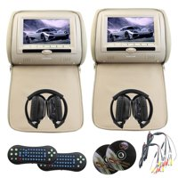 Eincar Headrest Monitor 7 Inch Digital TFT LCD Screen Car Mp5 with USB_SD_cd support 32_bit games entertainment FM IR Multime