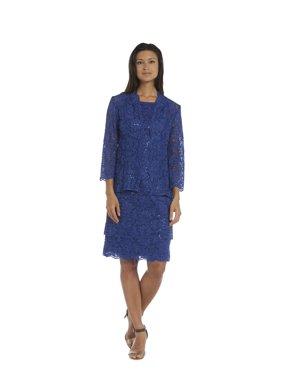 4c1a473682b Product Image R   M Richards Women s Royal Blue Spandex Blend Jacket Dress