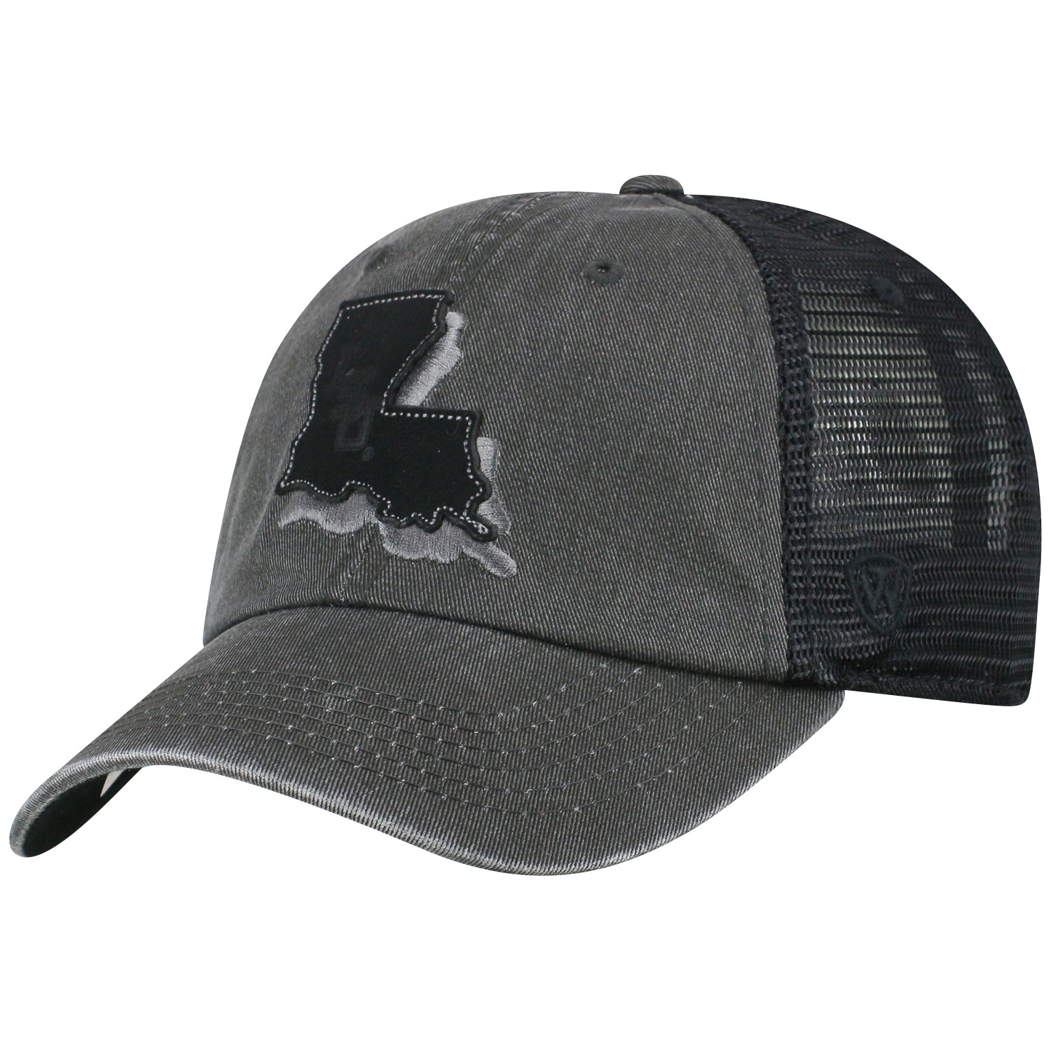 "LSU Tigers TOW Black ""Land"" Mesh Adj. Relax Hat Cap"
