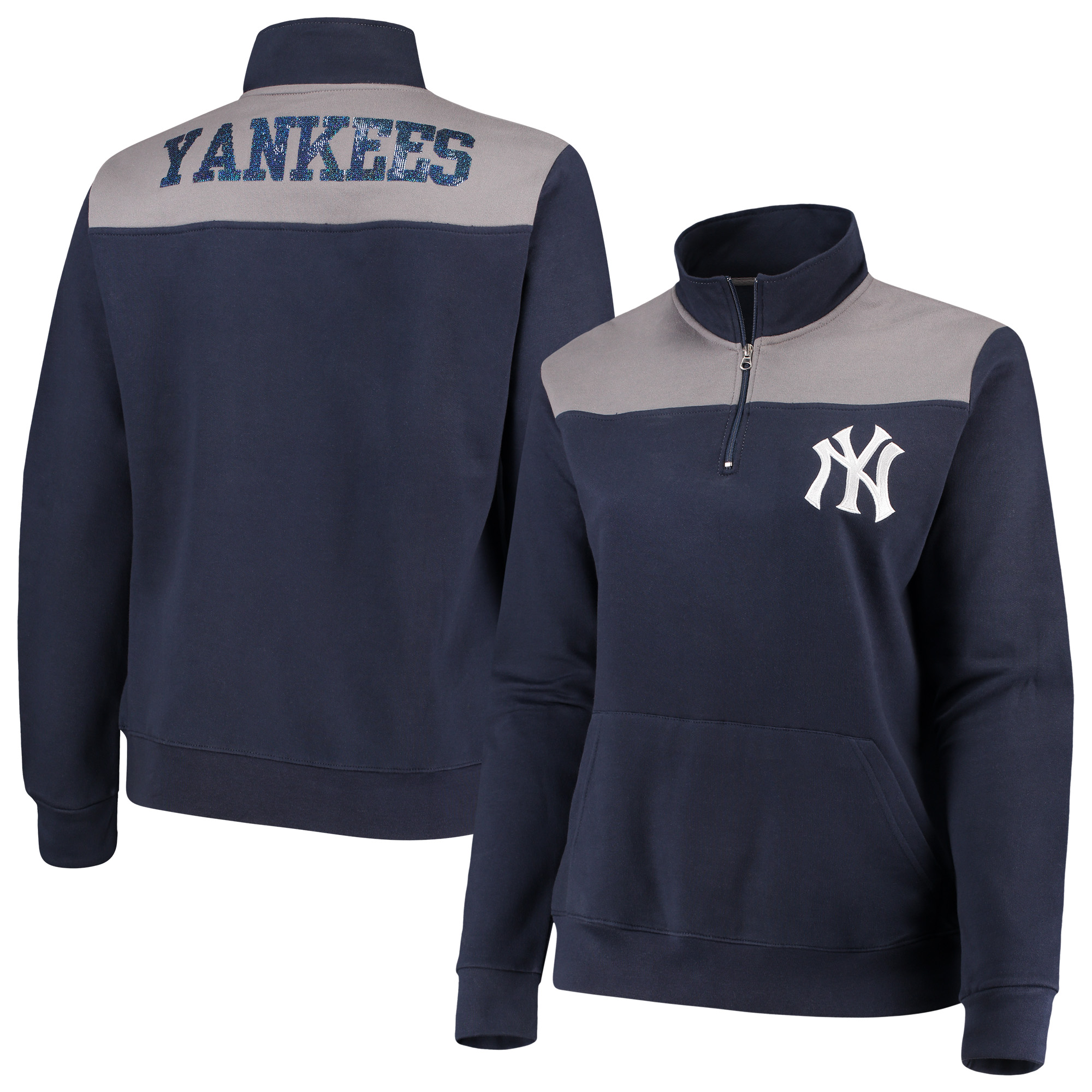 San Diego Padres Women's Zip Up Jacket Sequin Blue White Size Small