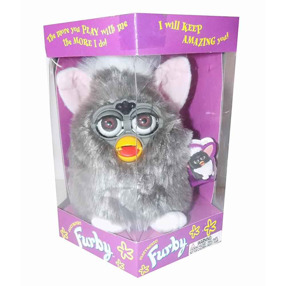 Furby Grey with Brown Eyes, Model 70-800, Original 1998 Version by