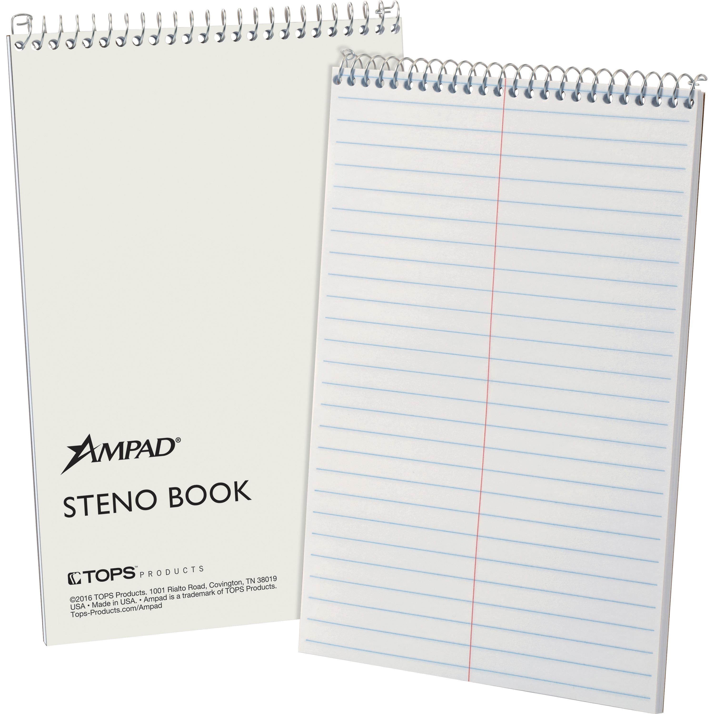 Ampad, TOP25472, Kraft Cover Steno Book, 1 Each