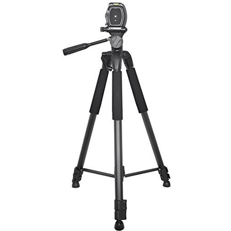 Professional 75-inch Tripod 3-way Panhead Tilt Motion with Built In Bubble Leveling For Canon Rebel EOS-M SL1 T1i T2i T3 T3i T4i T5 T5i T6i T6s XSI XS XTI EOS60D EOS70D 50D 40D 30D EOS5D EOS6D EOS7D E - image 2 of 3