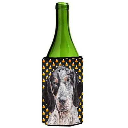 Blue Tick Coonhound Candy Corn Halloween Wine Bottle Beverage Insulator Hugger SC9649LITERK](Painted Wine Bottles Halloween)