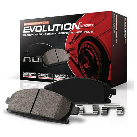Powerstop Z23-1053 PSBZ23-1053 REAR Z23 EVOLUTION SPORT CARBON FIBER INFUSED CERAMIC BRAKE PADS (Carbon Ceramic Brakes)
