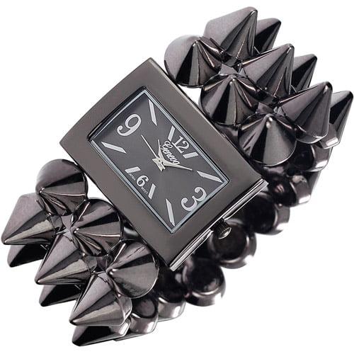Brinley Co. Women's Spiked Stretch Watch