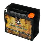 Pirate Battery YTX20L-BS (20L-BS 12 Volt,18 Ah, 270 CCA) High Performance Power Sports Battery