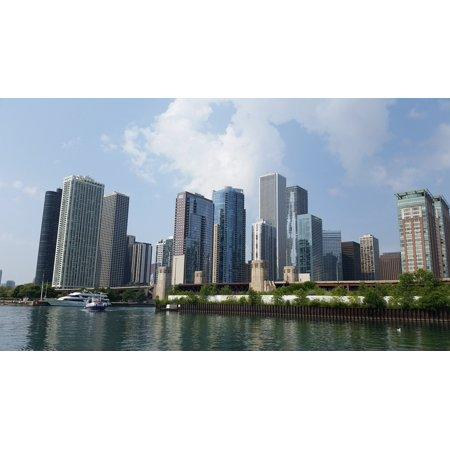 LAMINATED POSTER Architecture Chicago Skyline City Cityscape Poster Print 24 x 36 (Party City Hours Chicago)