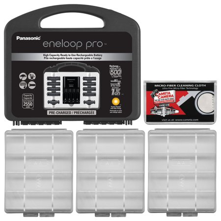 Panasonic Eneloop Pro Charger With 8 AA And 2 AAA Batteries