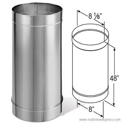 DuraVent 8DBK-48SS Stainless Steel 8