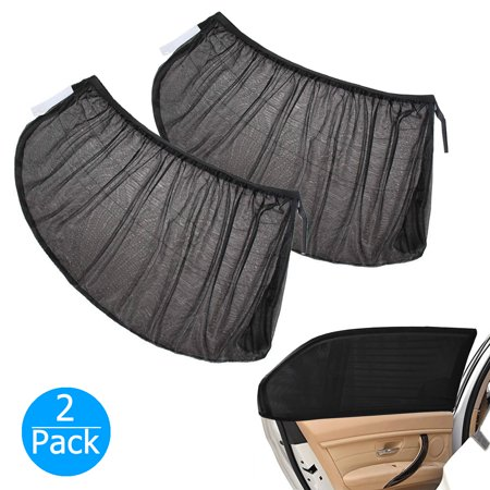 - 2-pack Car SUV Premium Rear Side Window Sun Visor Shade Mesh Cover Shield Sunshade UV Protector, Universal Fit Car ( Baby Sun Shade Travel Kit Bundle )