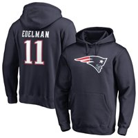 Julian Edelman New England Patriots NFL Pro Line by Fanatics Branded Player Icon Name & Number Pullover Hoodie - Navy
