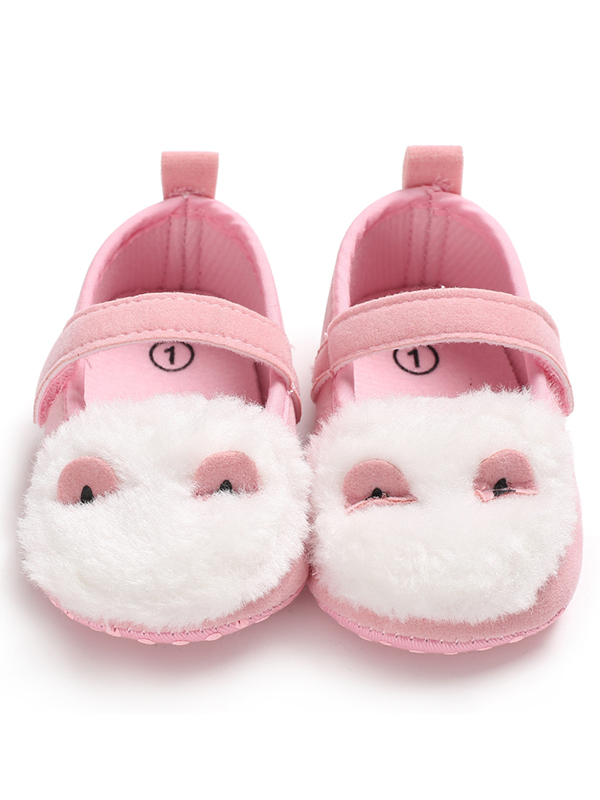 Lavaport Baby Girl Super Soft Breathable Furry Design Anti-Slip Shoes