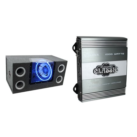 - PYRAMID 12 Inch 1200W Car Audio Sub Box Subwoofer Bandpass Subs & 2 Ohm Amp