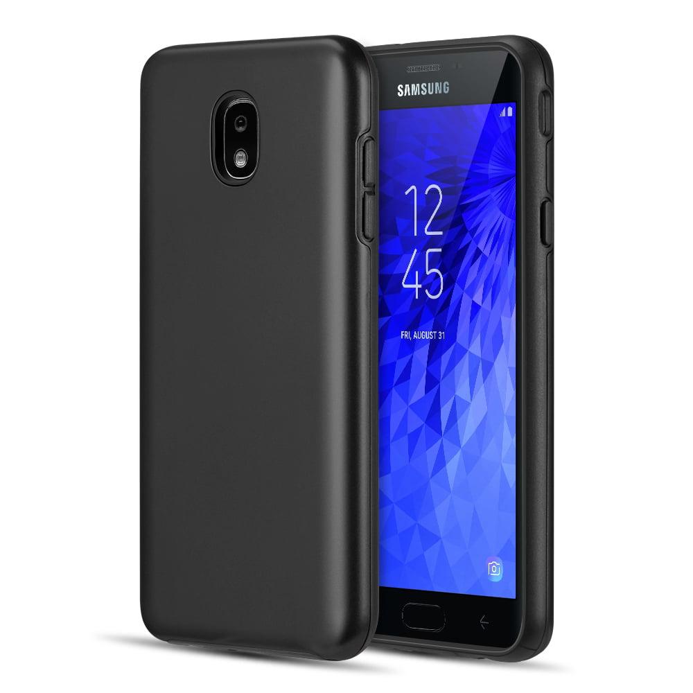 Dual Armor Samsung Galaxy J7 Star Slim Fit Hybrid Protective Cover Case For Samsung Galaxy J7 Star 2018 J737t T Mobile Black Walmart Com Walmart Com