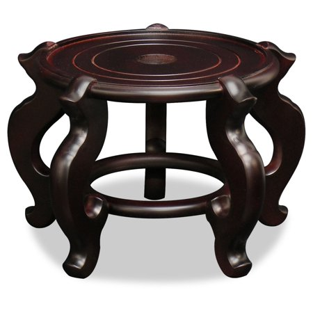 China Furniture and Arts Chinese Wooden Display Stand, 8.5 inch diameter ()