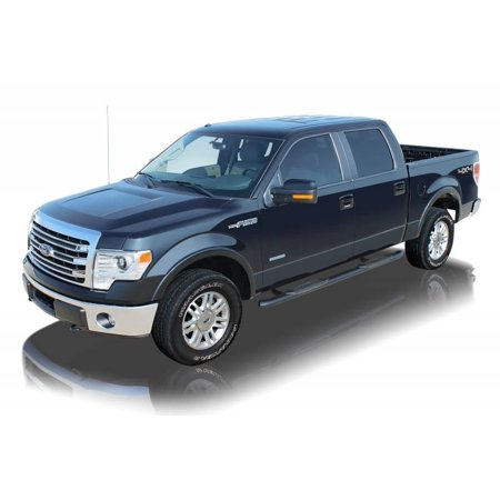 Raptor Series 2009 2017 Ford F150 2010 Crew Cab Black E Coated Rocker Panel Mount 4 Oe Style Curved Oval Step Bars 1503 0370b