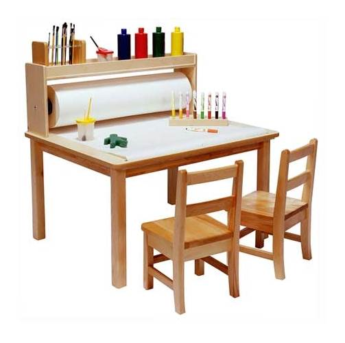Steffy Wood Arts & Crafts Table in Natural Finish