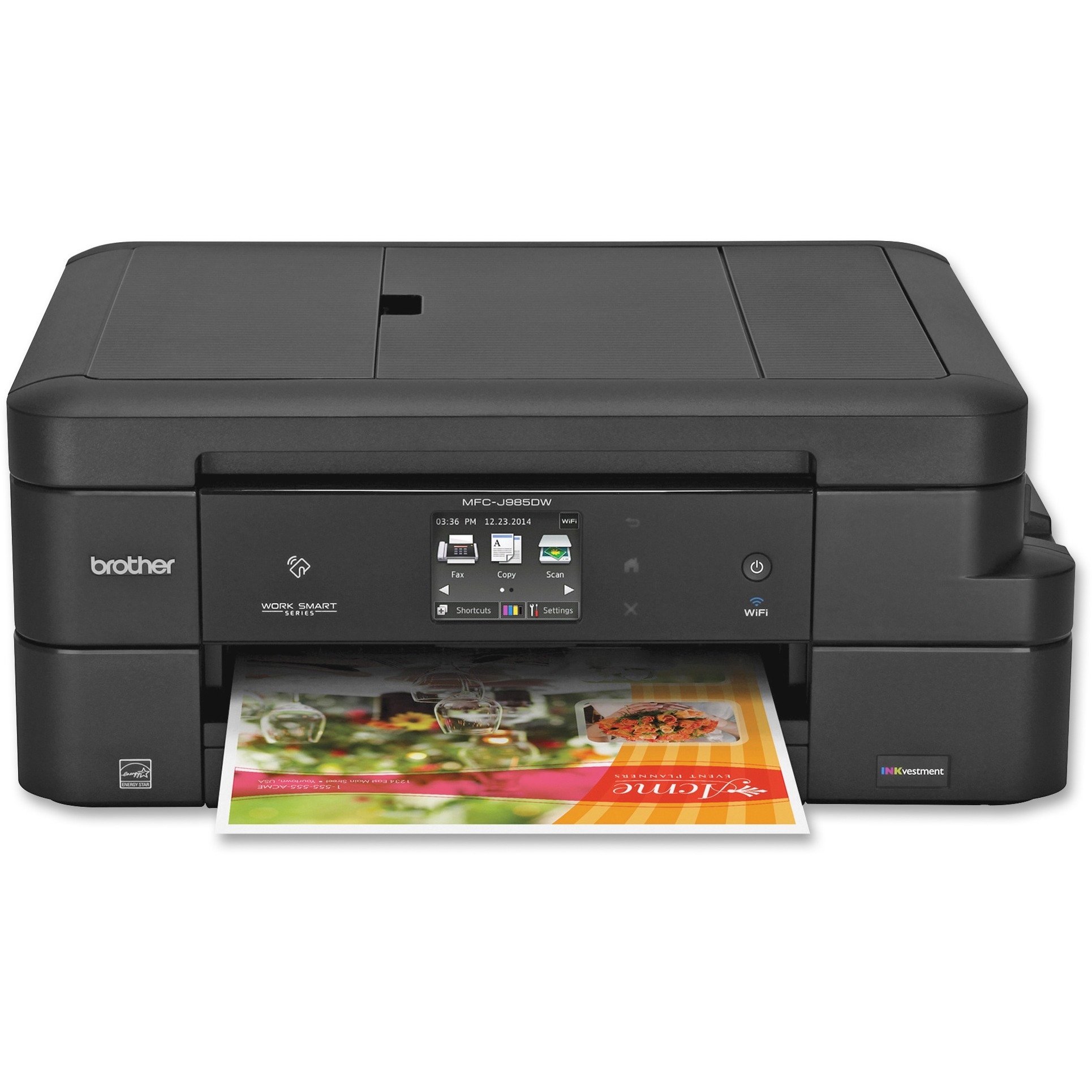 Brother Work Smart MFC-J985DW All-in-One Copy/Fax/Print/Scan with INKvestment Cartridges