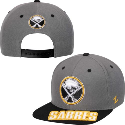 Buffalo Sabres Zephyr Crosscut Adjustable Snapback Hat - Gray/Black - OSFA