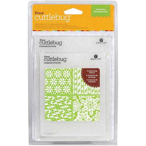 Provo Craft Cuttlebug Embossing Folders, Celebrate Christmas Set