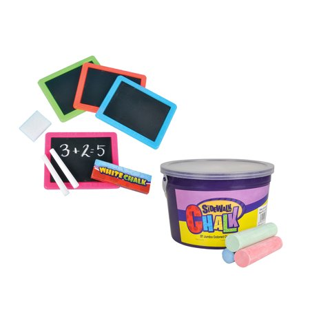 school supplies and toys and games neon chalkboard set 12 assorted color and jumbo sidewalk