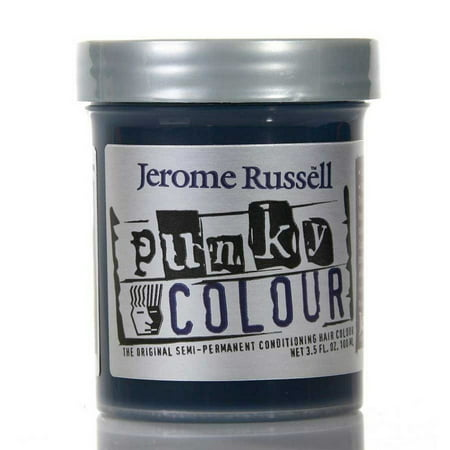 Jerome Russell Punky Hair Colour, Midnight Blue, 3.5 - Washable Black Hair Dye
