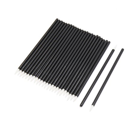 25 Pcs Black Disposable Eyeliner Liquid Wands Brushes ...