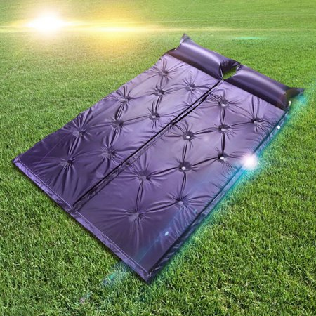 2Pcs Blue Self Inflating Air Mattress Outdoor Camping Accessories Buit-in Pillow Sleeping Pad Bed Camping Hiking Picnic Outing Napping Beach Air Beds Sleeping