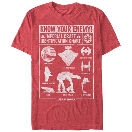 Star Wars Men's Imperial Craft Identification Chart T-Shirt - Star Wars Eye Chart