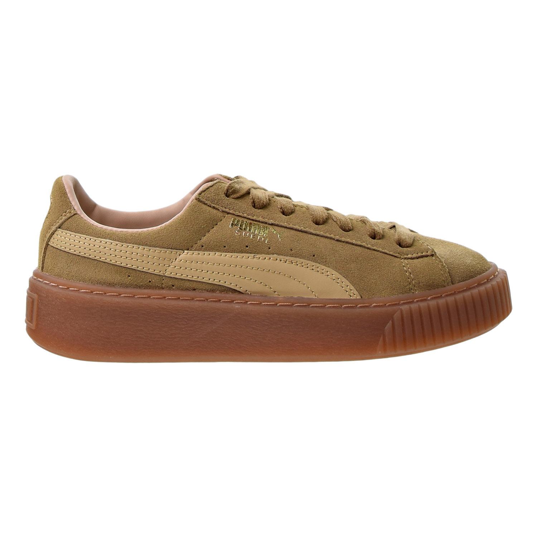 puma platform sneakers oatmeal
