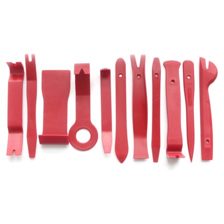 13pcs Pry Disassembly Tool Red Auto Car Audio Dash Tirm Panel Installer Dashboard Removal Opening Repair Tools Kit Interior Door Modeling Clip