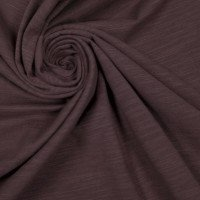 Mauve Dark Solid Slub Cotton Spandex Jersey Knit Fabric - Fabric for Face Mask Pink Ribbon Cotton Jersey